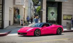 hot-pink-ferrari-458-italia-girl-driving